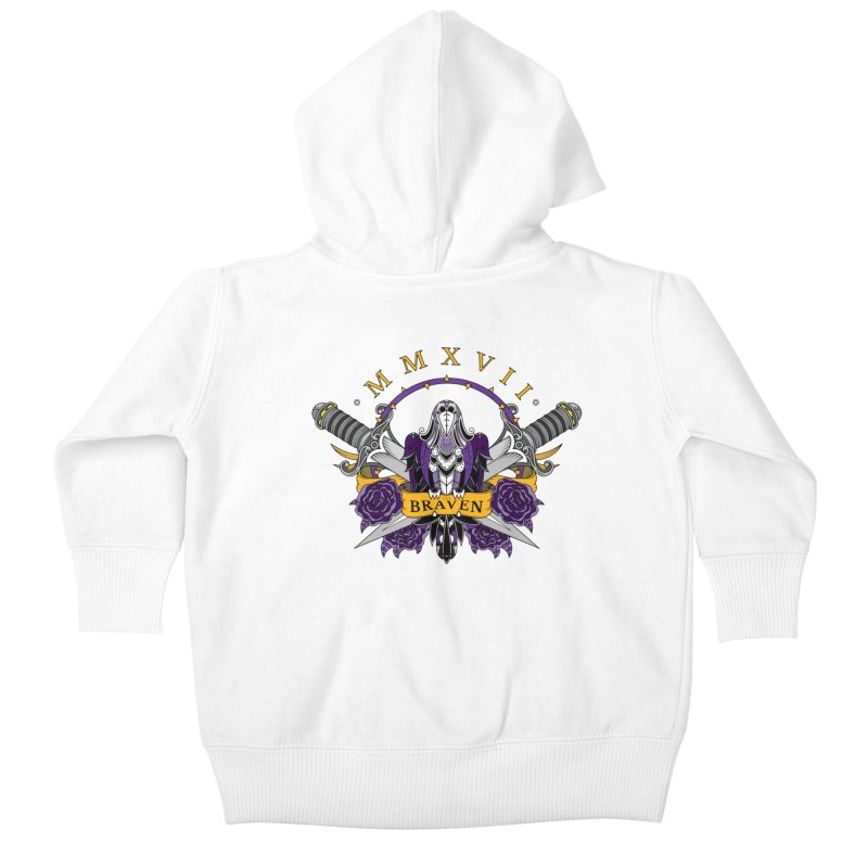 Nevermind the Braven Kids Baby Zip-Up Hoody by thebraven's Artist Shop