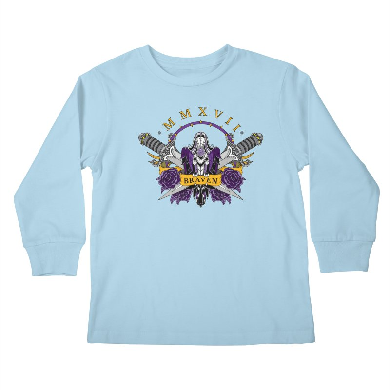 Nevermind the Braven Kids Longsleeve T-Shirt by thebraven's Artist Shop