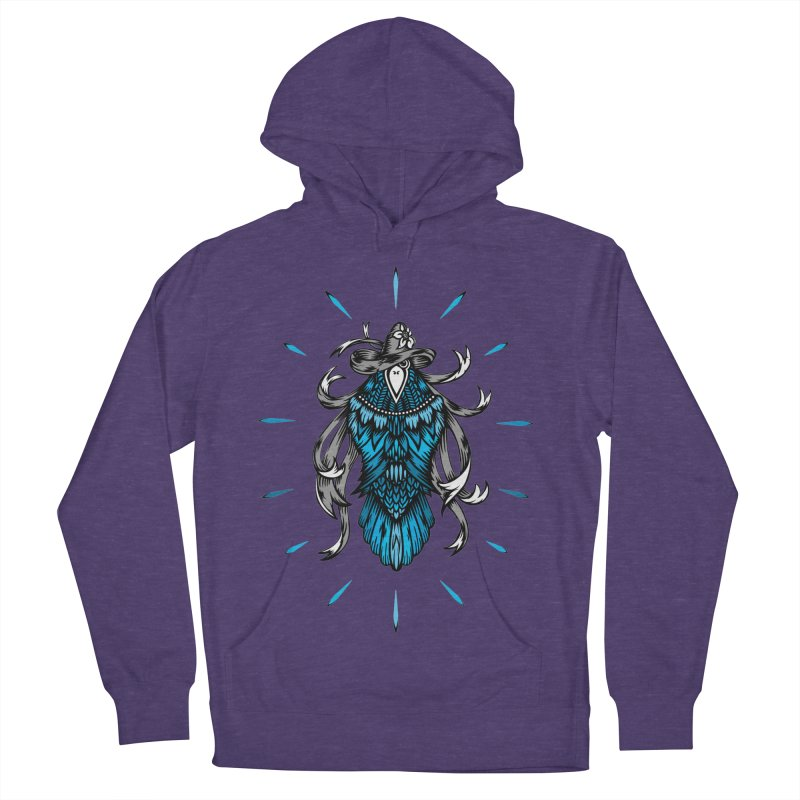 Shine bright like a Raven Men's French Terry Pullover Hoody by thebraven's Artist Shop