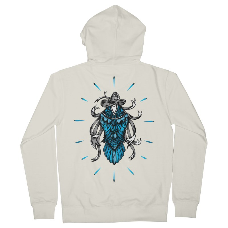 Shine bright like a Raven Men's French Terry Zip-Up Hoody by thebraven's Artist Shop