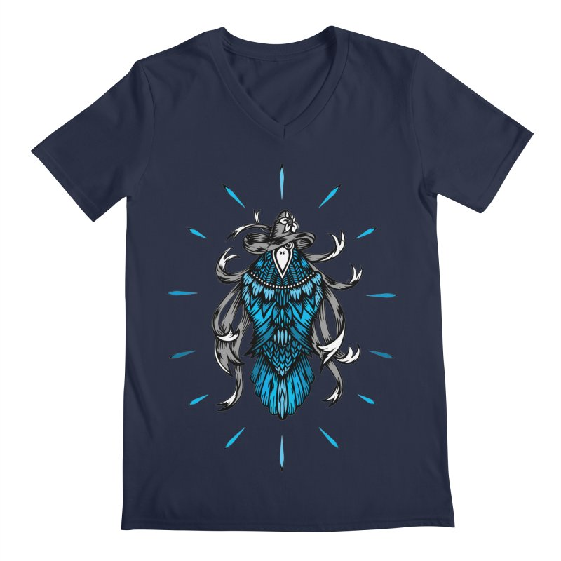 Shine bright like a Raven Men's Regular V-Neck by thebraven's Artist Shop