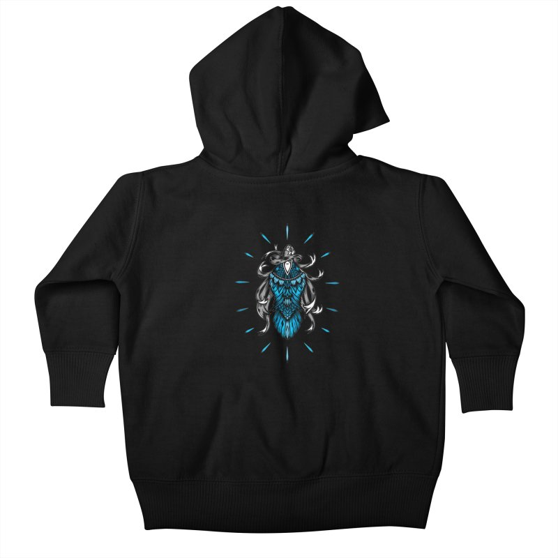 Shine bright like a Raven Kids Baby Zip-Up Hoody by thebraven's Artist Shop