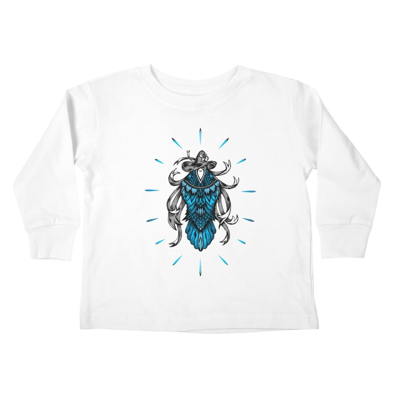 Shine bright like a Raven Kids Toddler Longsleeve T-Shirt by thebraven's Artist Shop
