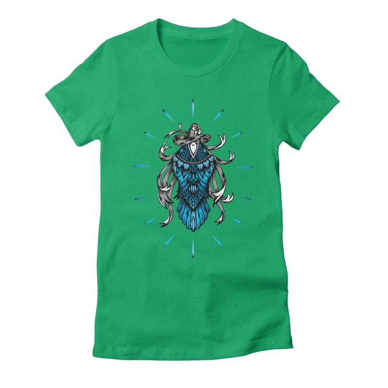 Shine bright like a Raven Women's Fitted T-Shirt by thebraven's Artist Shop