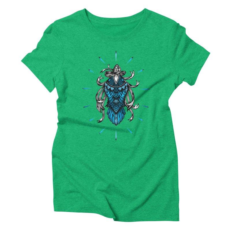 Shine bright like a Raven Women's Triblend T-Shirt by thebraven's Artist Shop