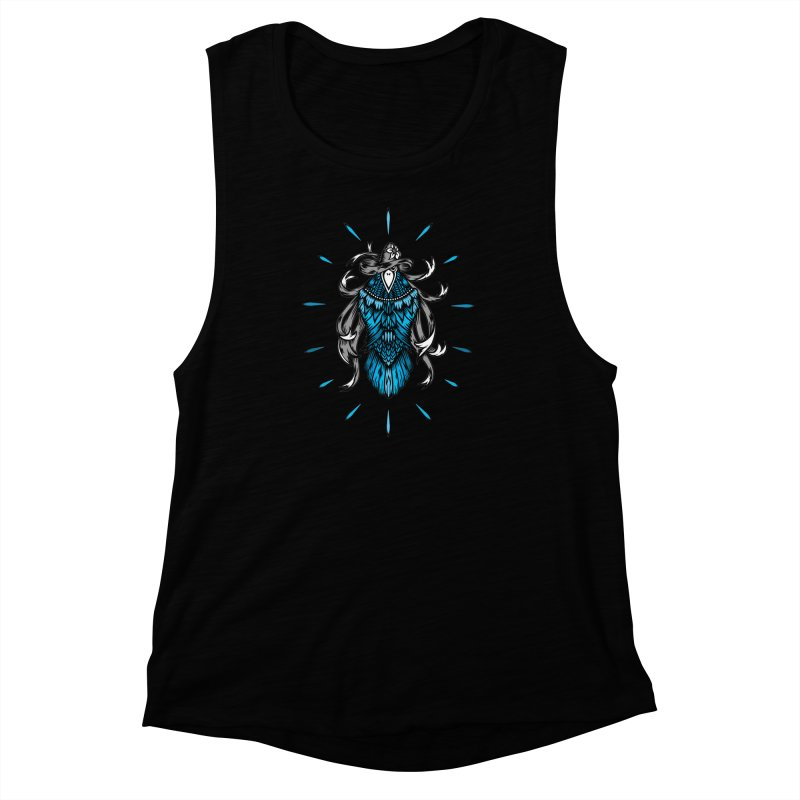 Shine bright like a Raven Women's Muscle Tank by thebraven's Artist Shop