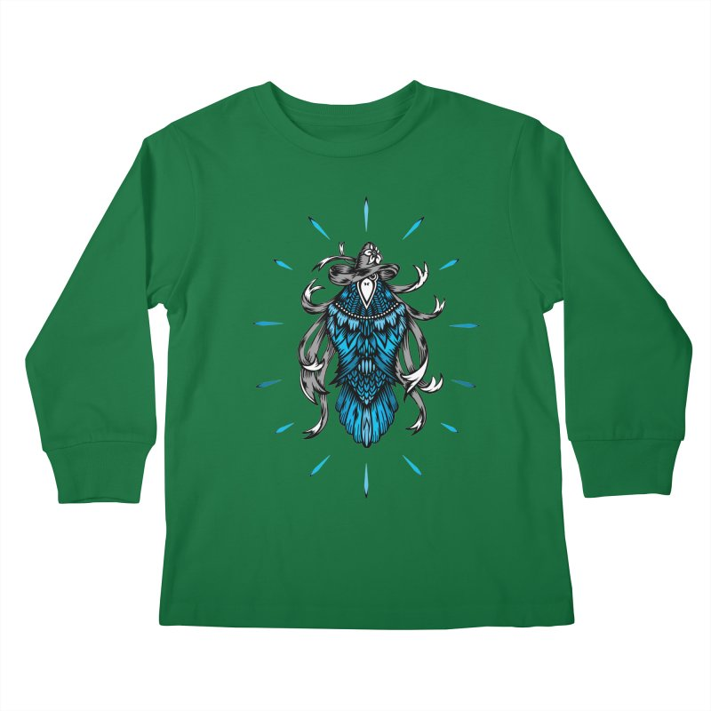 Shine bright like a Raven Kids Longsleeve T-Shirt by thebraven's Artist Shop