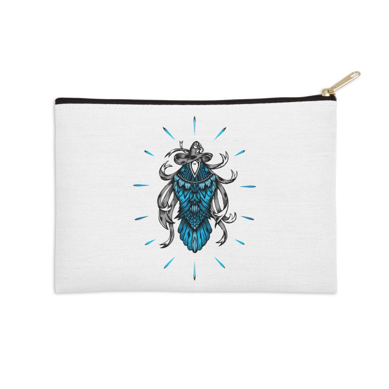 Shine bright like a Raven Accessories Zip Pouch by thebraven's Artist Shop