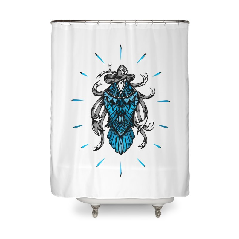 Shine bright like a Raven Home Shower Curtain by thebraven's Artist Shop