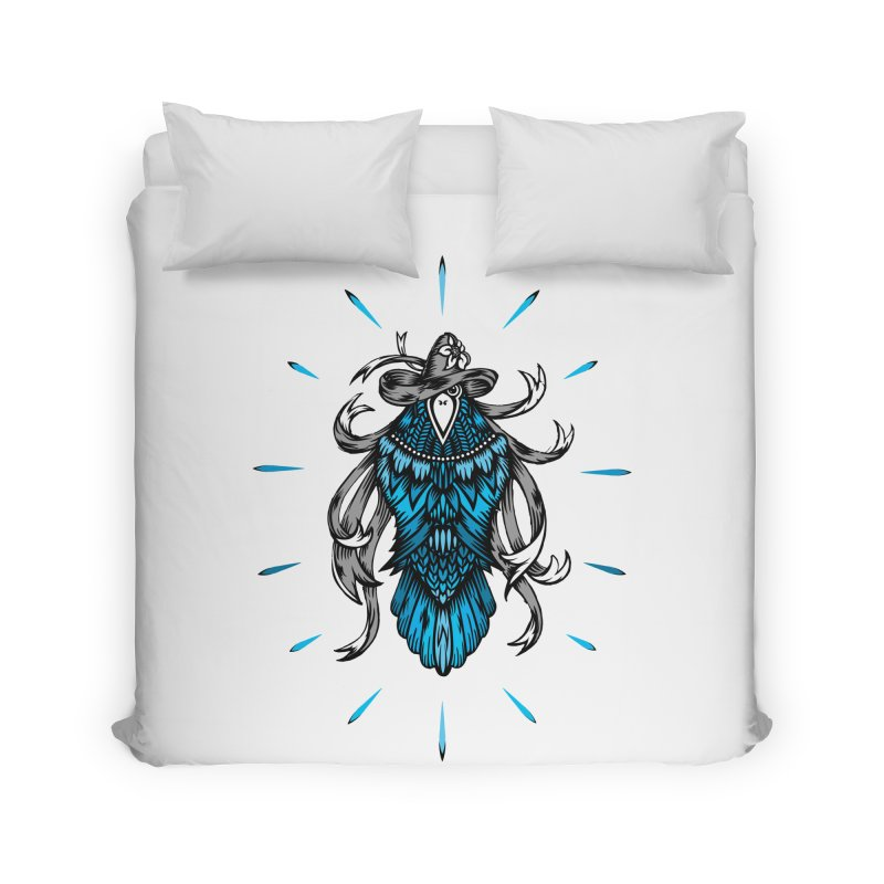 Shine bright like a Raven Home Duvet by thebraven's Artist Shop