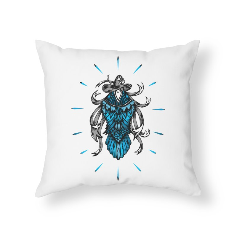 Shine bright like a Raven Home Throw Pillow by thebraven's Artist Shop