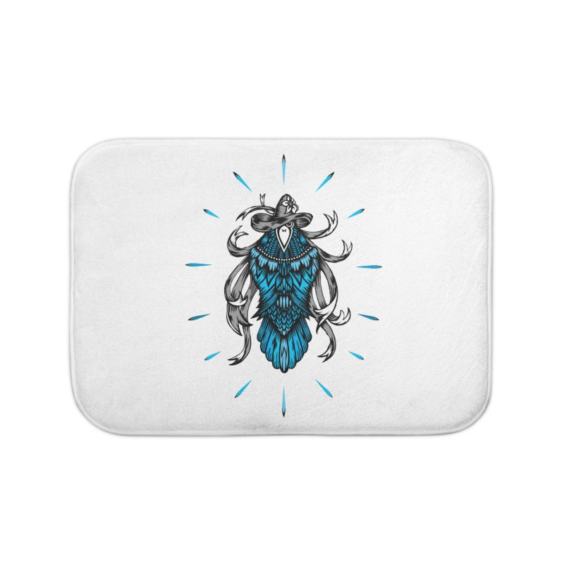 Shine bright like a Raven Home Bath Mat by thebraven's Artist Shop