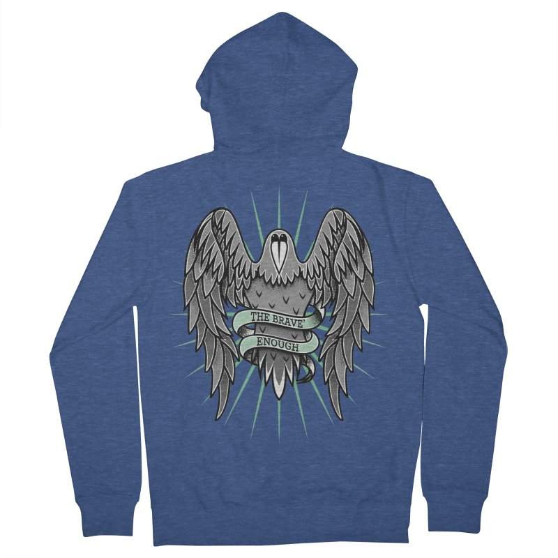 Brave' the Rave' Men's Zip-Up Hoody by thebraven's Artist Shop