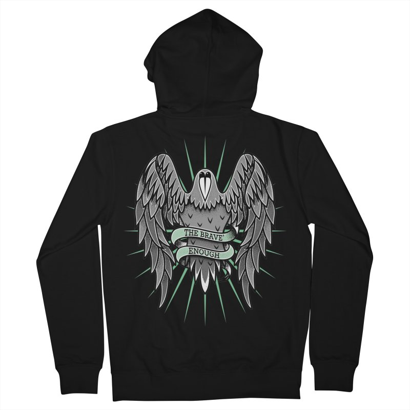 Brave' the Rave' Men's French Terry Zip-Up Hoody by thebraven's Artist Shop