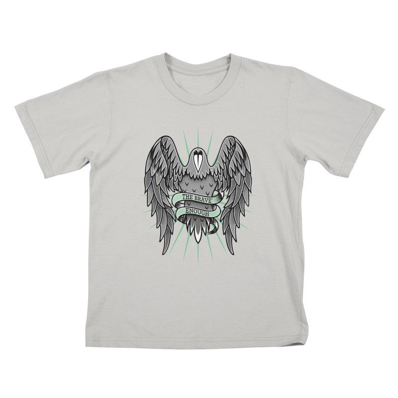 Brave' the Rave' Kids T-Shirt by thebraven's Artist Shop