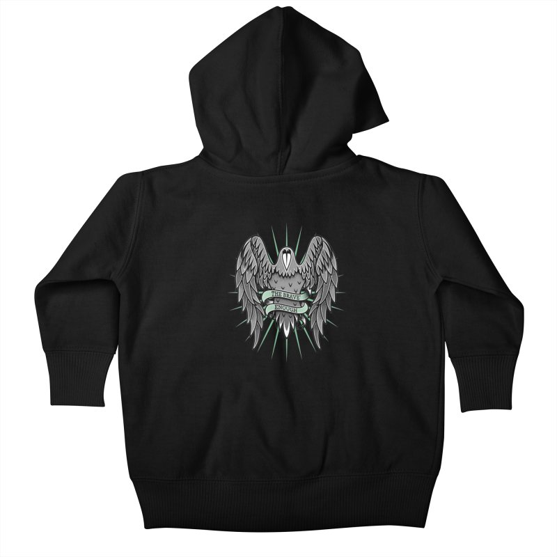 Brave' the Rave' Kids Baby Zip-Up Hoody by thebraven's Artist Shop