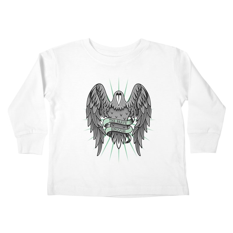 Brave' the Rave' Kids Toddler Longsleeve T-Shirt by thebraven's Artist Shop