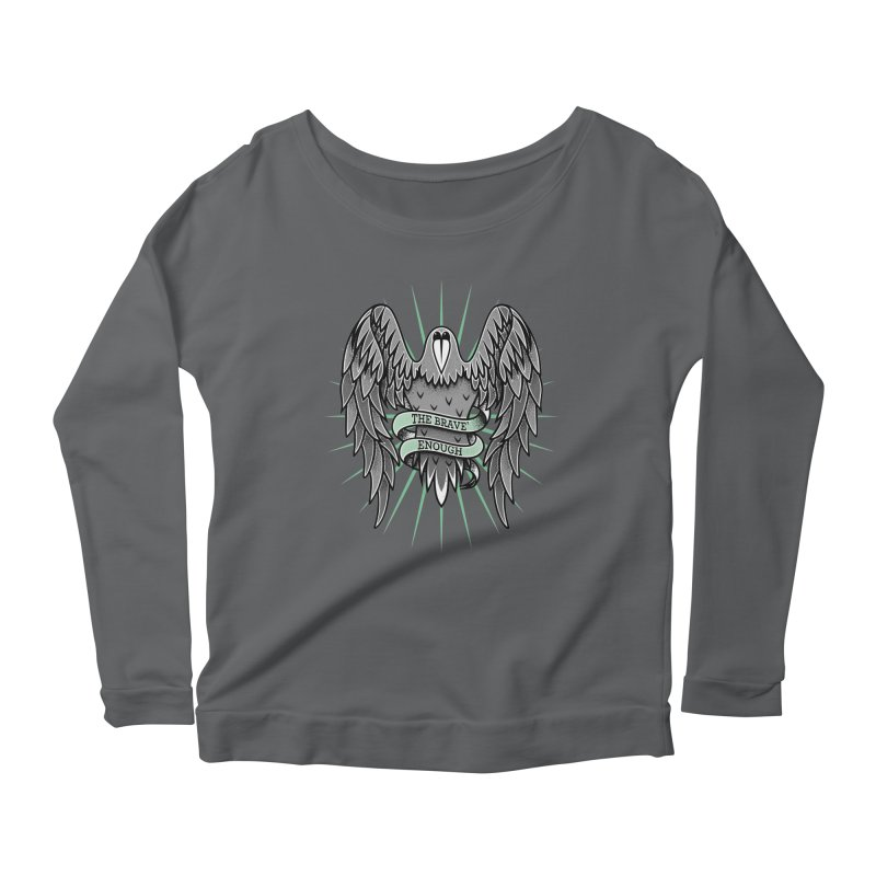 Brave' the Rave' Women's Longsleeve Scoopneck  by thebraven's Artist Shop