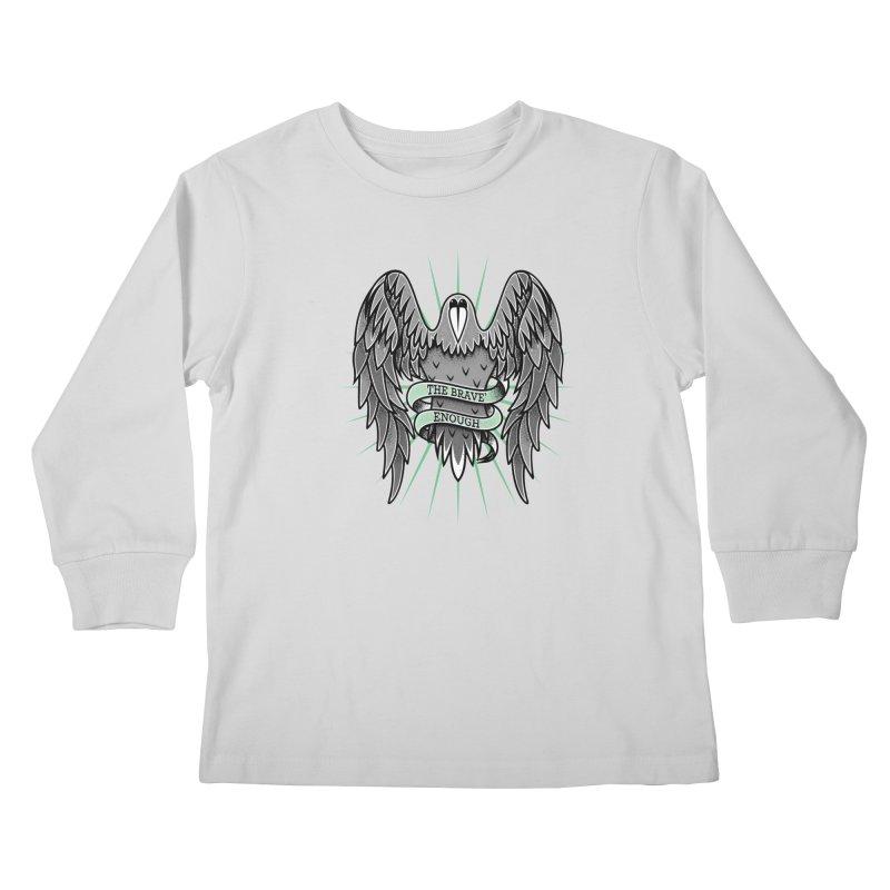Brave' the Rave' Kids Longsleeve T-Shirt by thebraven's Artist Shop