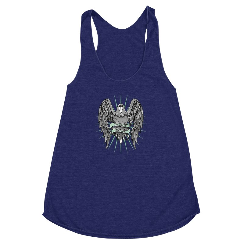 Brave' the Rave' Women's Racerback Triblend Tank by thebraven's Artist Shop