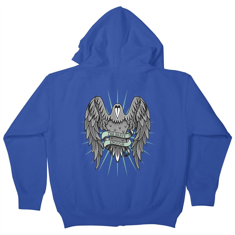 Brave' the Rave' Kids Zip-Up Hoody by thebraven's Artist Shop