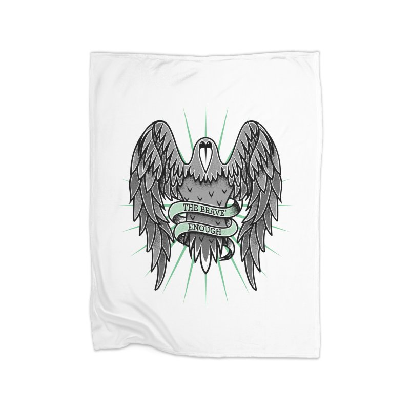 Brave' the Rave' Home Fleece Blanket Blanket by thebraven's Artist Shop