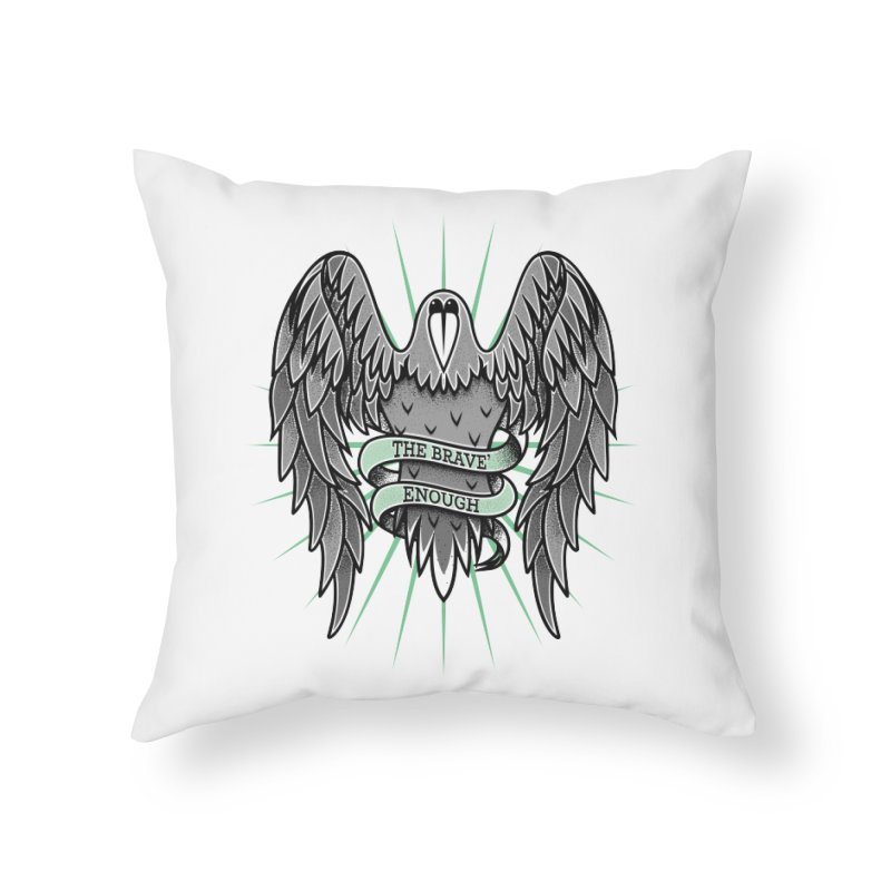 Brave' the Rave' Home Throw Pillow by thebraven's Artist Shop
