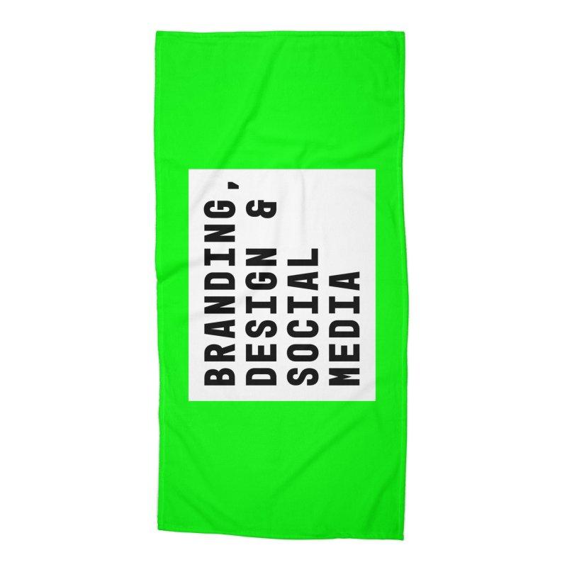 Branding, Design & Social Media Accessories Beach Towel by Nik Brovkin AKA The Breaks