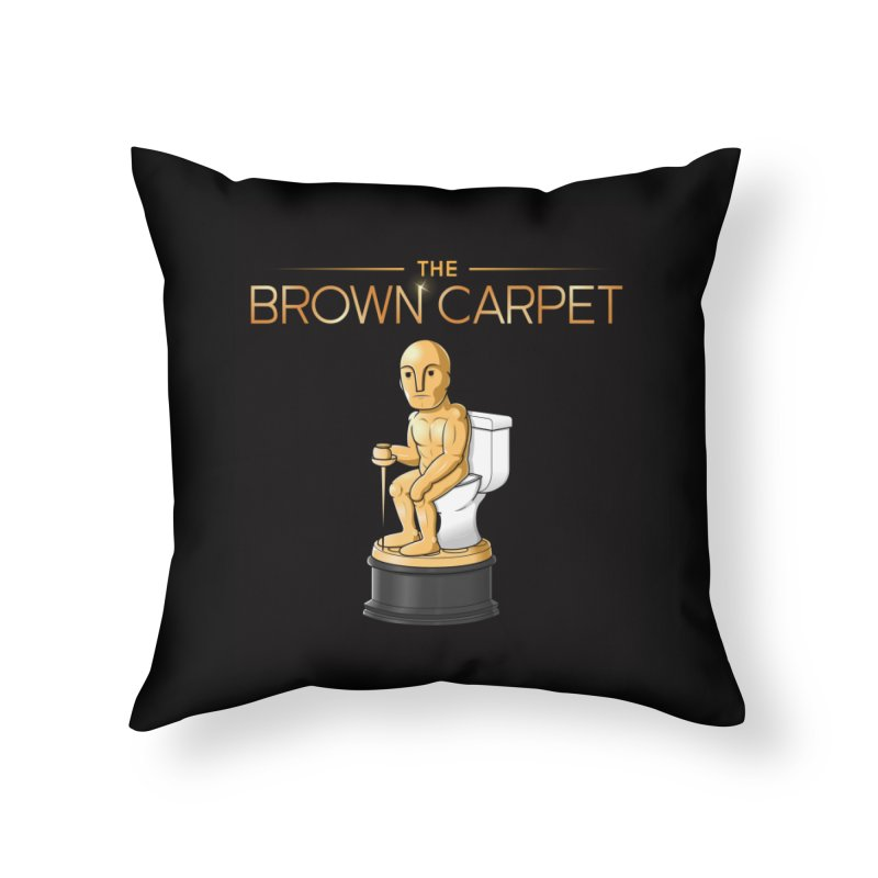 Classic BCP Logo Home Throw Pillow by The Brown Carpet Podcast