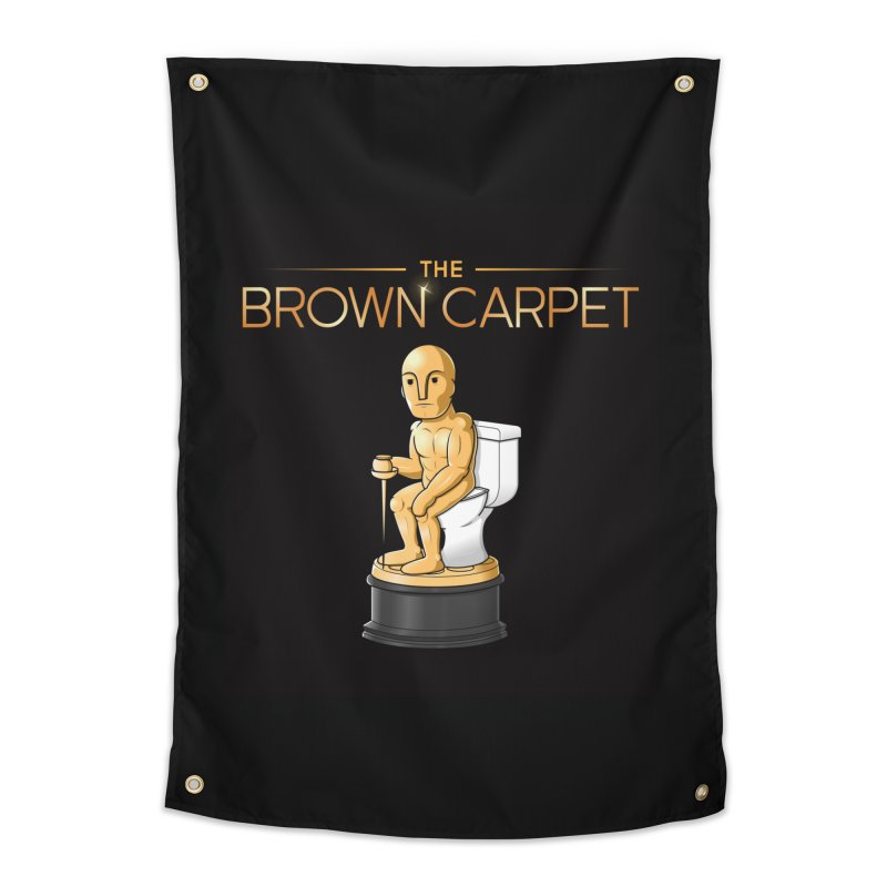 Classic BCP Logo Home Tapestry by The Brown Carpet Podcast
