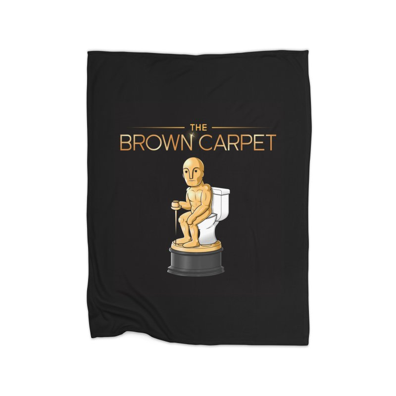 Classic BCP Logo Home Fleece Blanket Blanket by The Brown Carpet Podcast