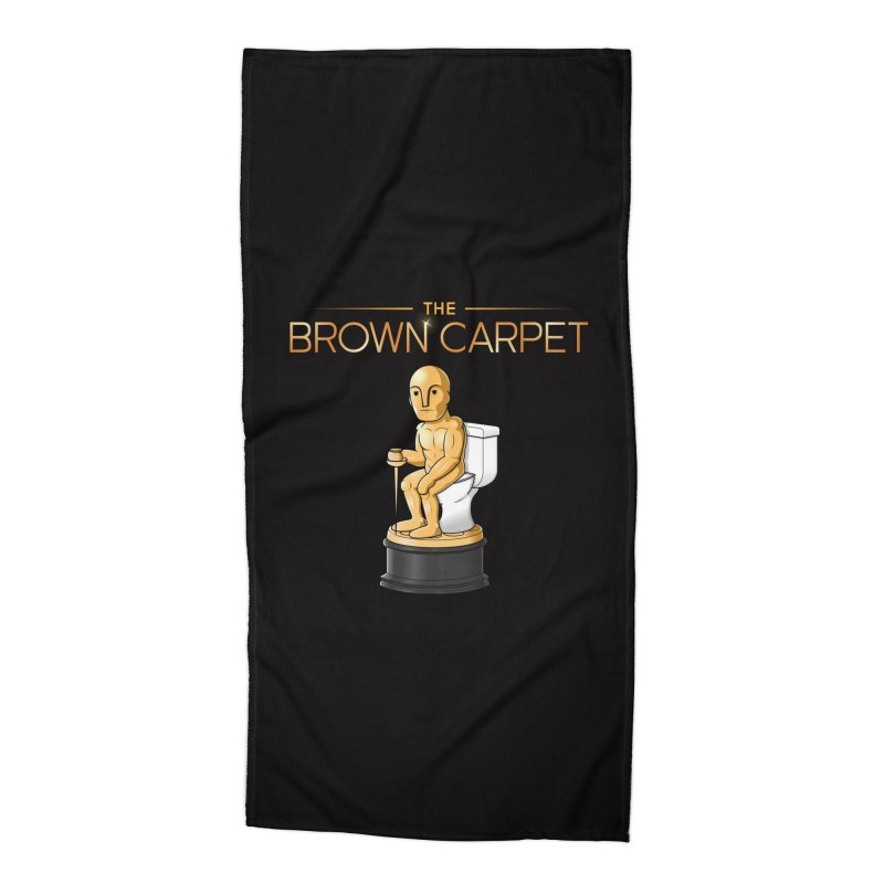Classic BCP Logo Accessories Beach Towel by The Brown Carpet Podcast