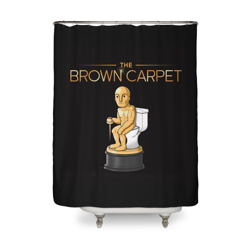 Classic BCP Logo Home Shower Curtain by The Brown Carpet Podcast