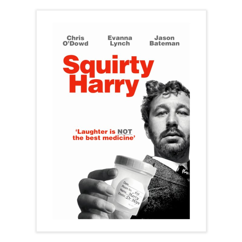 Squirty Harry Poster Home Fine Art Print by The Brown Carpet Podcast