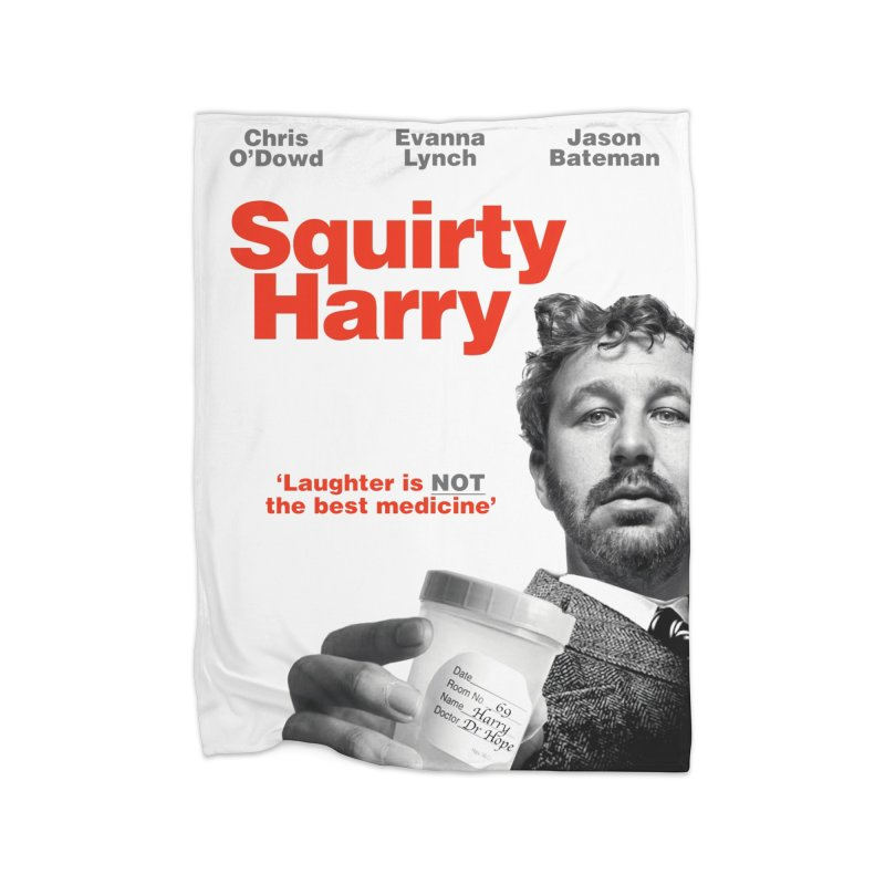 Squirty Harry Poster Home Fleece Blanket Blanket by The Brown Carpet Podcast