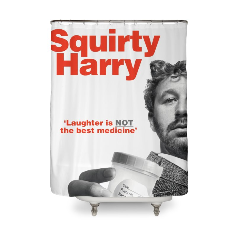 Squirty Harry Poster Home Shower Curtain by The Brown Carpet Podcast