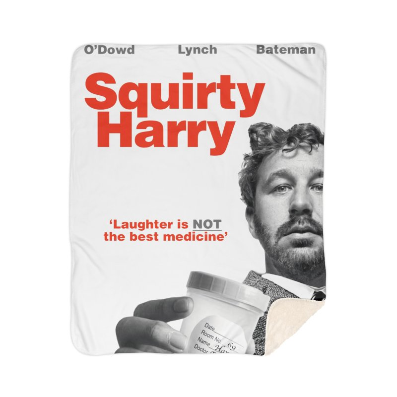 Squirty Harry Poster Home Sherpa Blanket Blanket by The Brown Carpet Podcast