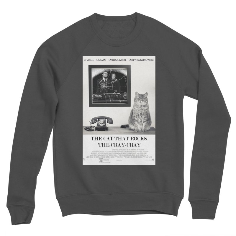 The Cat That Rocks The Cray-Cray Poster Women's Sponge Fleece Sweatshirt by The Brown Carpet Podcast