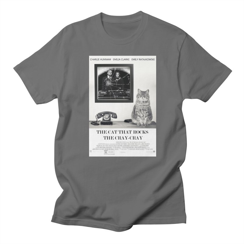 The Cat That Rocks The Cray-Cray Poster Men's T-Shirt by The Brown Carpet Podcast