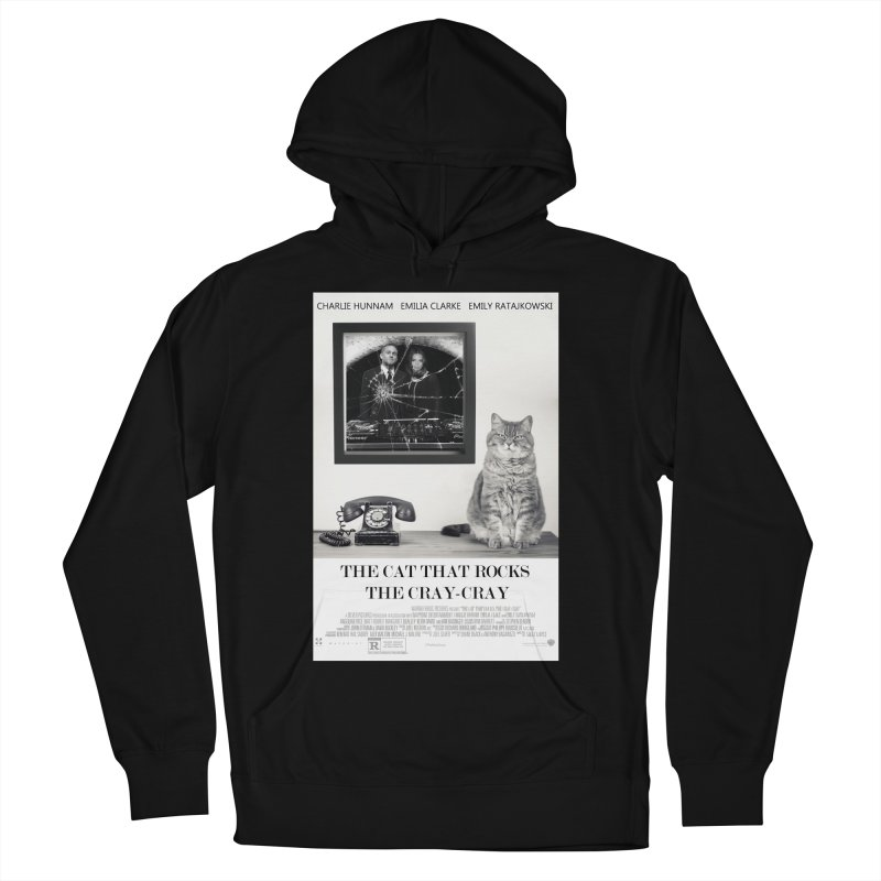 The Cat That Rocks The Cray-Cray Poster Men's French Terry Pullover Hoody by The Brown Carpet Podcast