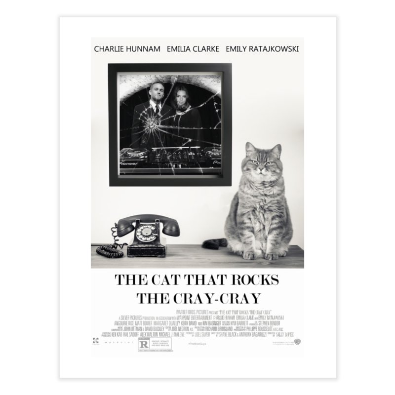 The Cat That Rocks The Cray-Cray Poster Home Fine Art Print by The Brown Carpet Podcast