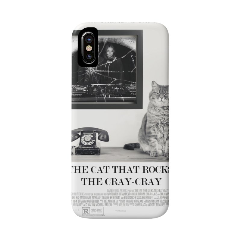 The Cat That Rocks The Cray-Cray Poster Accessories Phone Case by The Brown Carpet Podcast