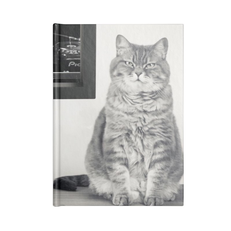 The Cat That Rocks The Cray-Cray Poster Accessories Blank Journal Notebook by The Brown Carpet Podcast