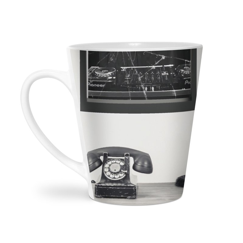 The Cat That Rocks The Cray-Cray Poster Accessories Latte Mug by The Brown Carpet Podcast