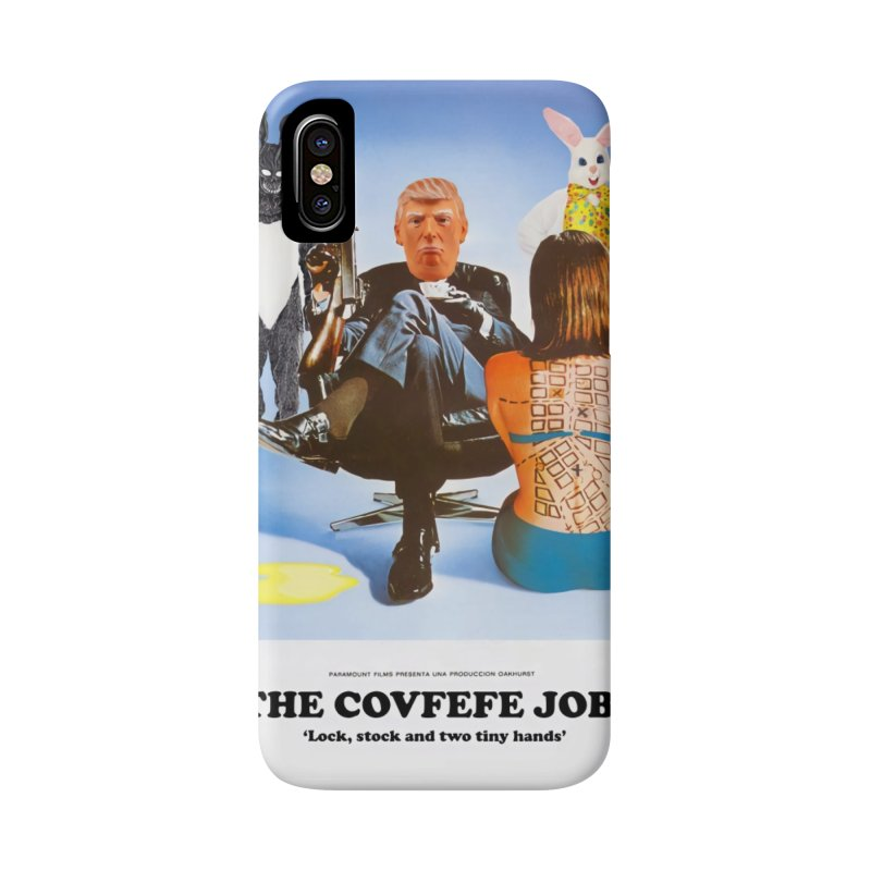 The Covfefe Job Poster Accessories Phone Case by The Brown Carpet Podcast