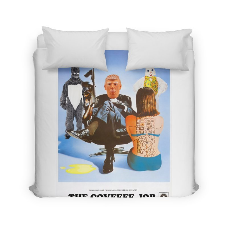 The Covfefe Job Poster Home Duvet by The Brown Carpet Podcast