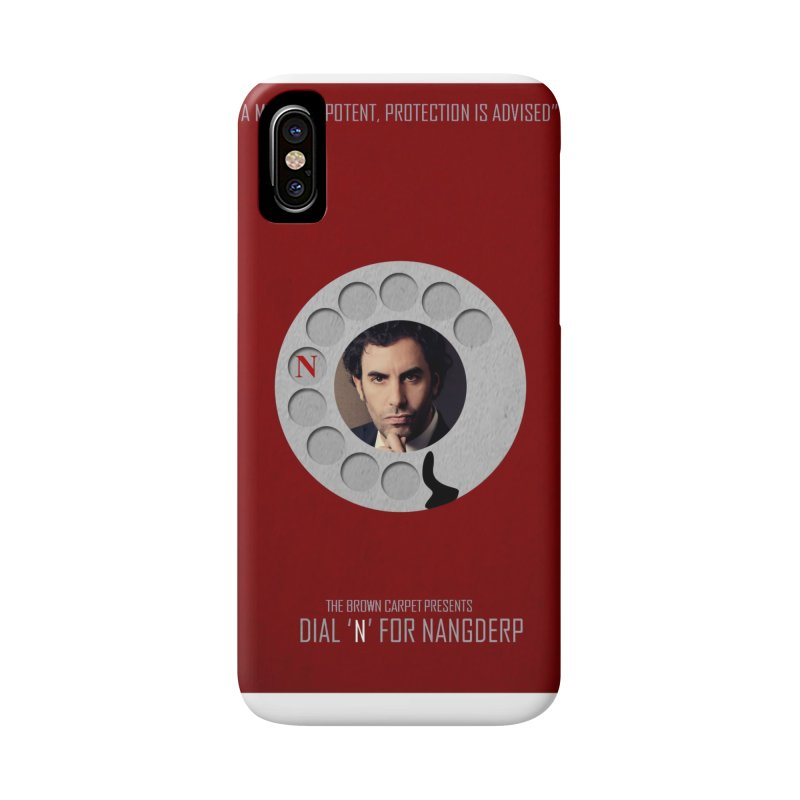 Dial 'N' For Nangderp Poster Accessories Phone Case by The Brown Carpet Podcast