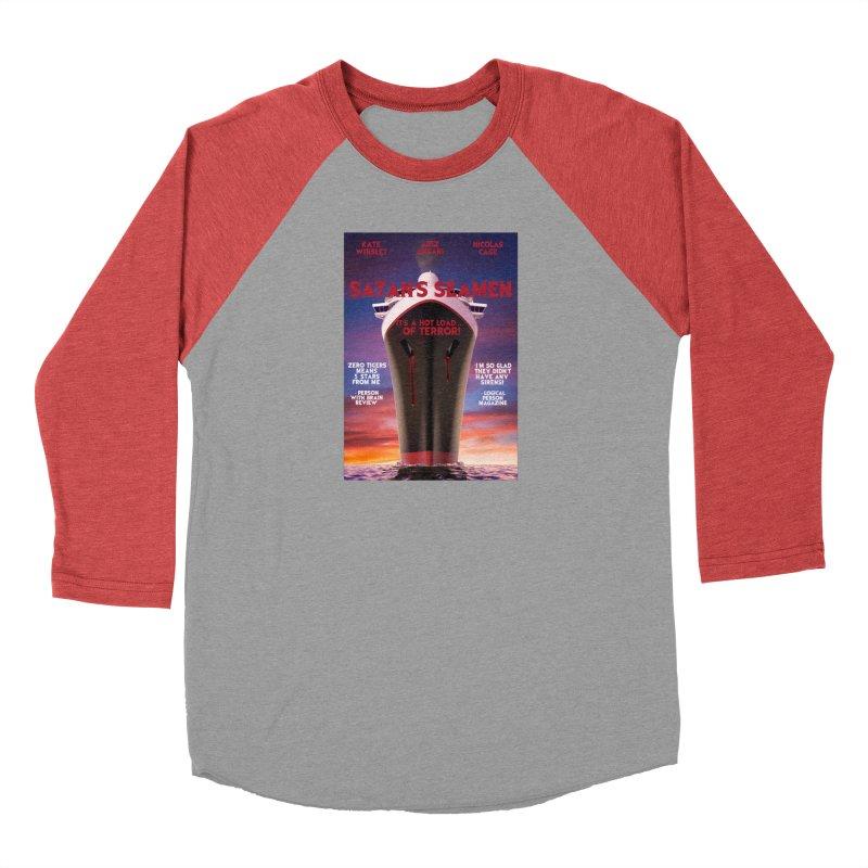Satan's Seaman Poster Men's Baseball Triblend Longsleeve T-Shirt by The Brown Carpet Podcast