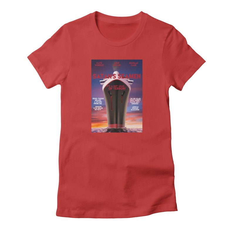 Satan's Seaman Poster Women's Fitted T-Shirt by The Brown Carpet Podcast