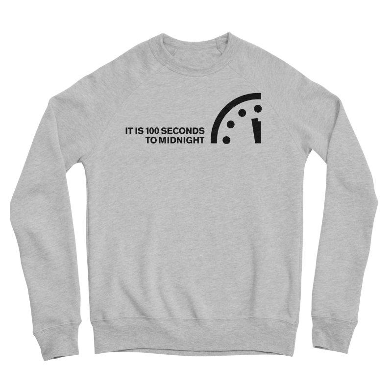 100 Tagline Clock Black Women's Sweatshirt by Bulletin of the Atomic Scientists' Artist Shop